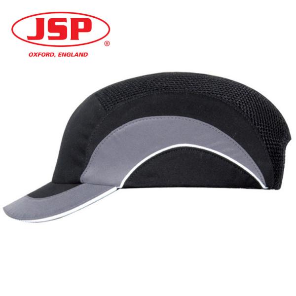 Gorra JSP antigolpes EN-812 negra y gris