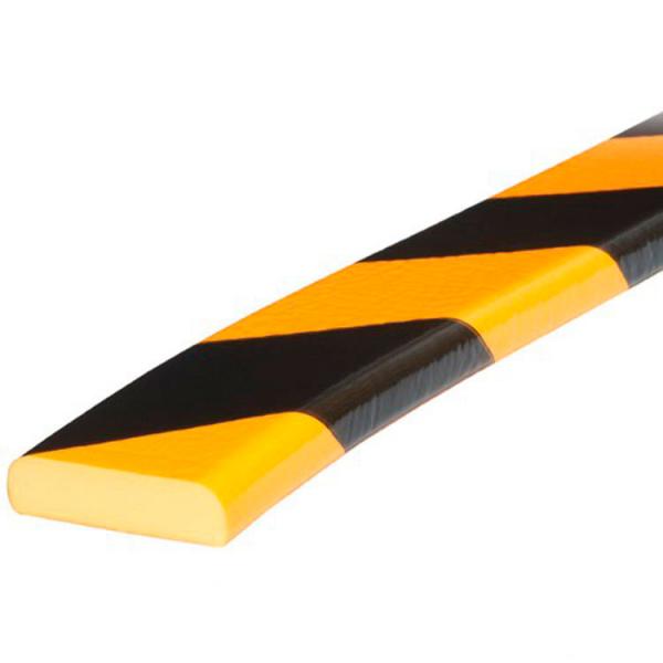 Paragolpes de seguridad plano amarillo y negro