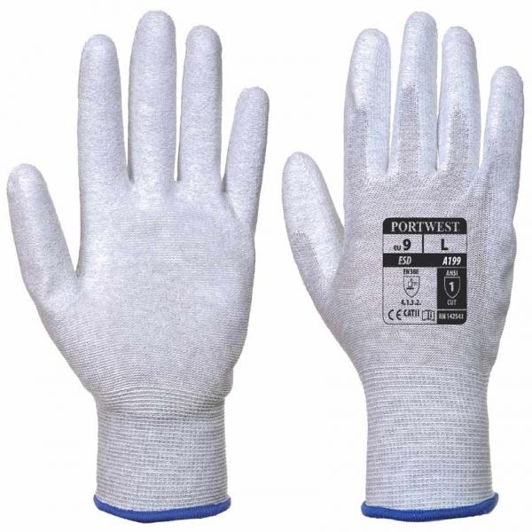 Guante antiestático nylon + poliuretano