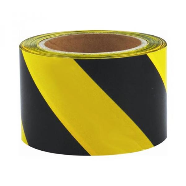 Cinta de balizamiento amarilla y negra