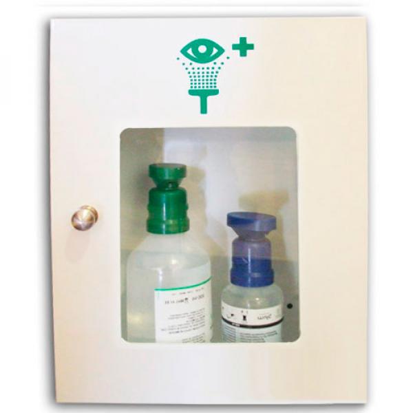 Estación botellas lavaojos para ácidos y partículas