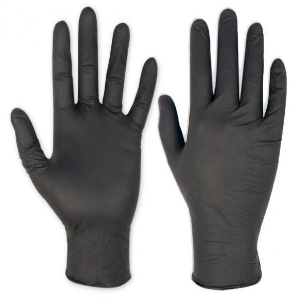 Caja 100uds. guantes nitrilo negro t-S