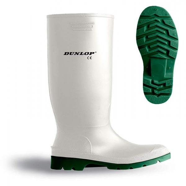 Bota de agua blanca Dunlop sin protección