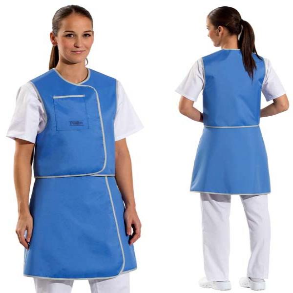 Conjunto falda y chaleco para protección radiológica