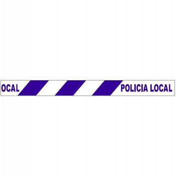 Cinta de balizar policía local