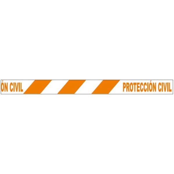 Cinta de balizar protección civil