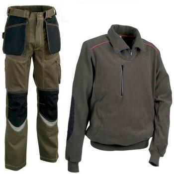 Pantalón y polar Cofra verde oscuro