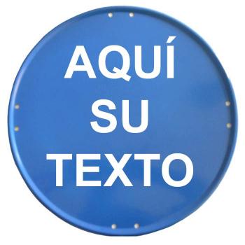 Placa circular azul 50cm...