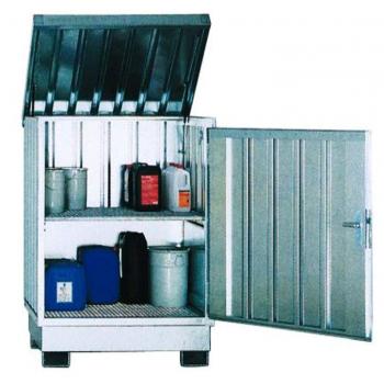 Caseta para almacenar productos químicos