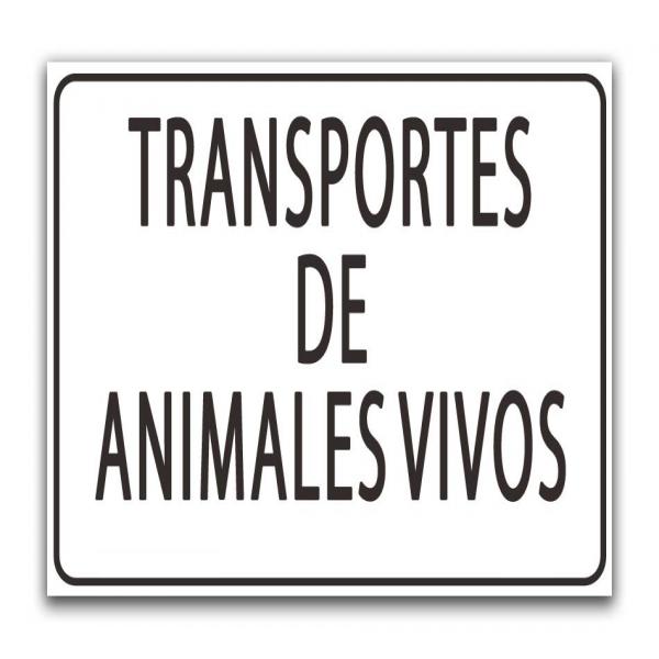Señal transporte animales vivos