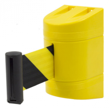Soporte a pared con cinta retráctil amarilla y...625