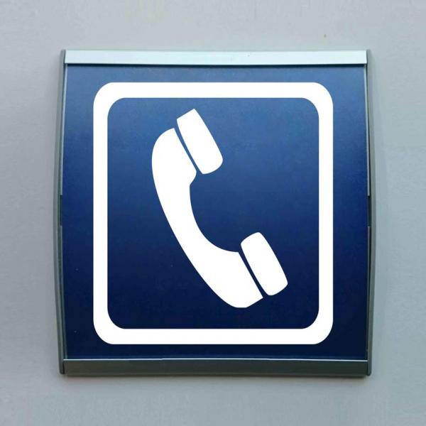 Señal perfil aluminio teléfono