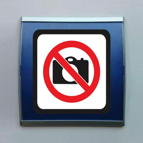 Señal perfil aluminio prohibido fotos