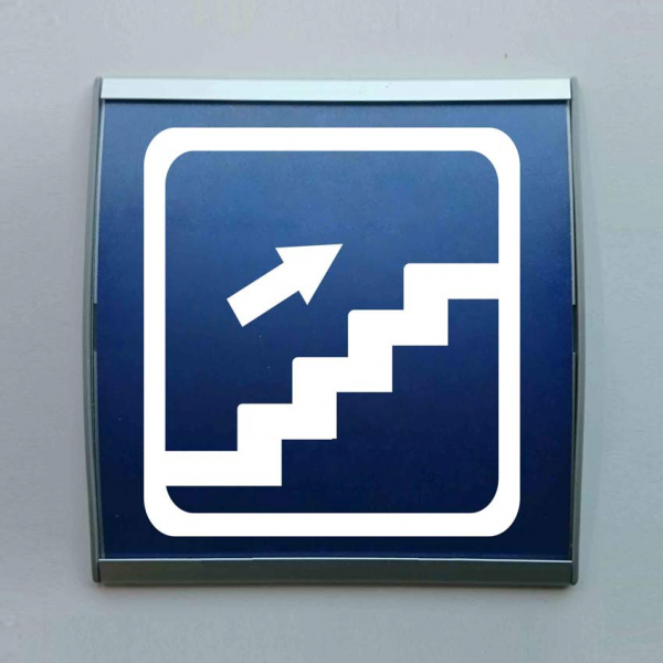 Señal perfil aluminio escaleras subida