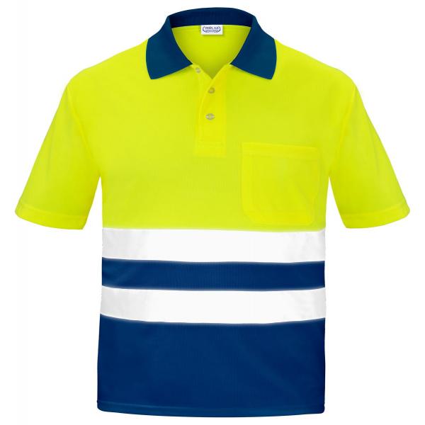 Polo reflectante amarillo marino EN20471