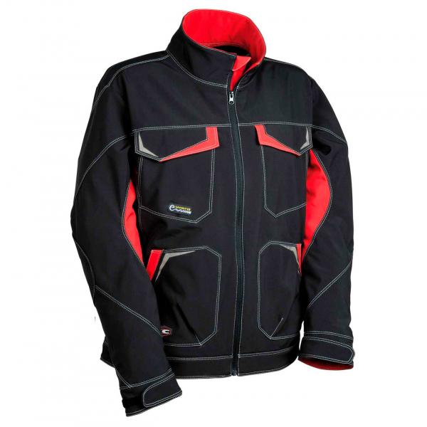 Softshell Cofra Mirassol negro y rojo