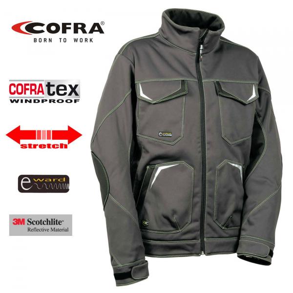 Softshell Cofra Mirassol gris y negro