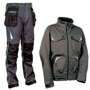Pantalón y softshell Cofra gris y negro