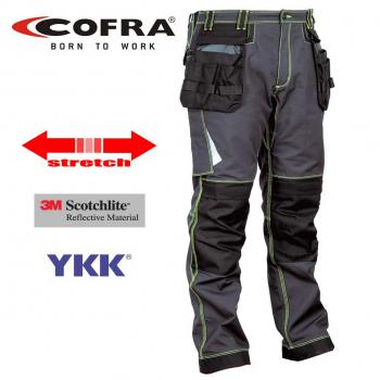 Pantalón y softshell Cofra gris y negro786