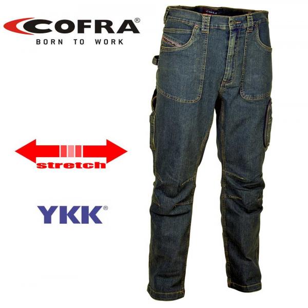 Pantalón vaquero y softshell Cofra