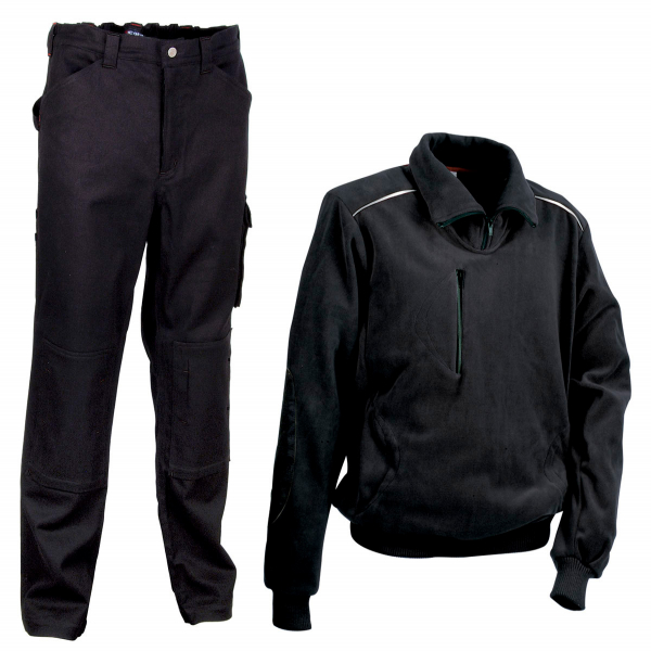 Forro polar Cofra Fast y pantalón Cofra Rabat negro