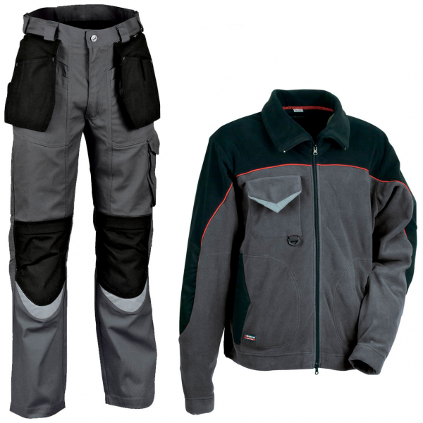 Pantalón Cofra Carpenter y polar Cofra Rider gris