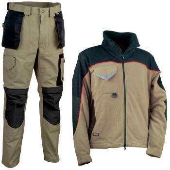 Pantalón Cofra Rotterdam y polar Rider beige y negro