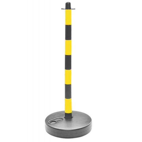 Poste separador amarillo y negro