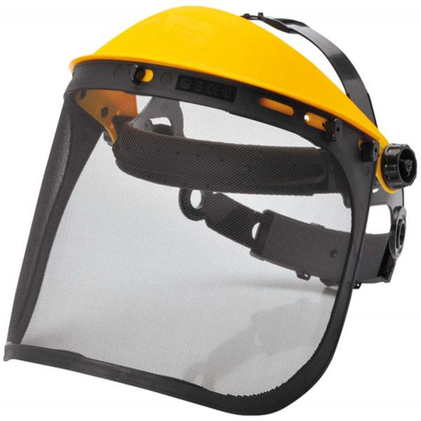 Pantalla facial trabajos forestales
