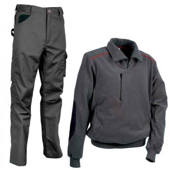 Pantalón Cofra Drill y polar Fast gris