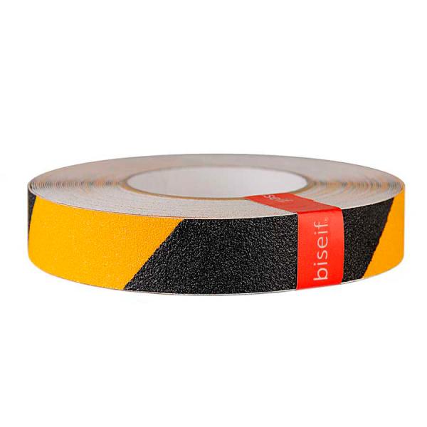 Cinta antideslizante amarilla y negra 25mm x 18,3m