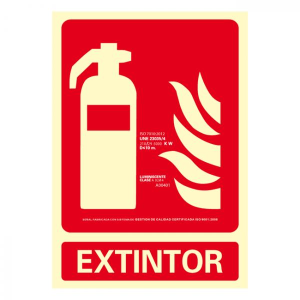 Señal Extintor Clase A 21x30cm