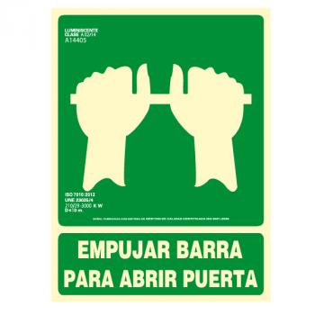 Señal Empujar Barra para...