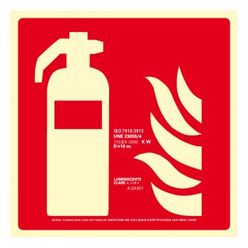 Señal Extintor Clase A (Disponible en varios tamaños)