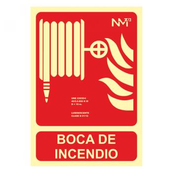 Señal Boca de Incendio Clase A (21x30cm)074