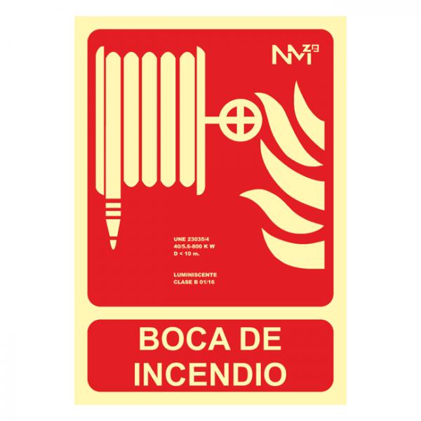 Señal Boca de Incendio Clase A (21x30cm)