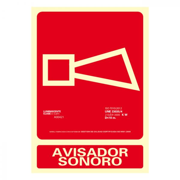 Señal Avisador Sonoro Clase A 21x30cm