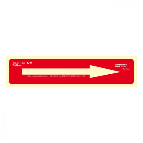Señal Flecha Indicativa Clase A (Disponible en varios tamaños)