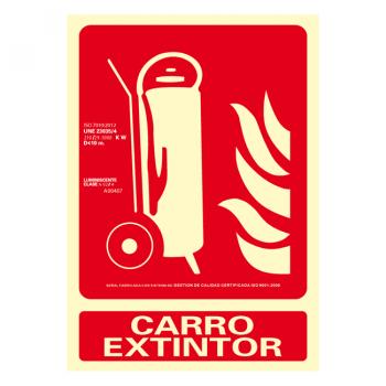 Señal Carro Extintor Clase A 21x30cm