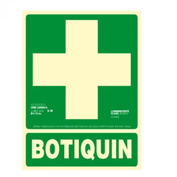 Señal Botiquín Clase A 22x30cm