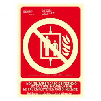 Señal No Utilizar en Caso de Incendio Idiomas...090