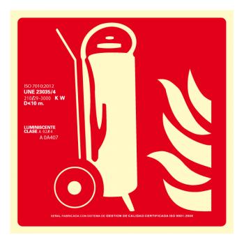 Señal Carro Extintor Clase A (Disponible en varios tamaños)