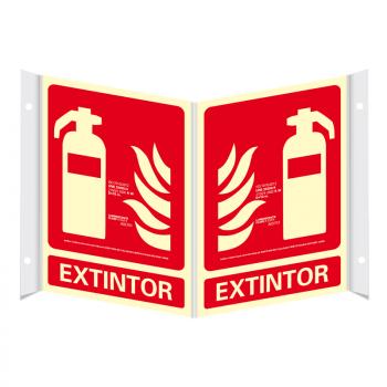 Señal Panorámica de Extintor Clase A 21x30cm106