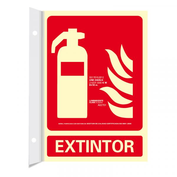 Banderola Extintor Clase A 21x30cm