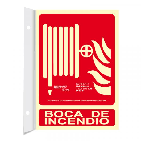 Banderola Boca de Incendio Clase A 21x30cm