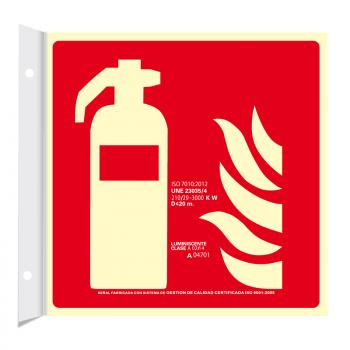 Banderola Extintor Clase A (Disponible en varios tamaños)