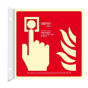 Banderola Pulsador de Alarma Clase A (Disponible en varios tamaños)