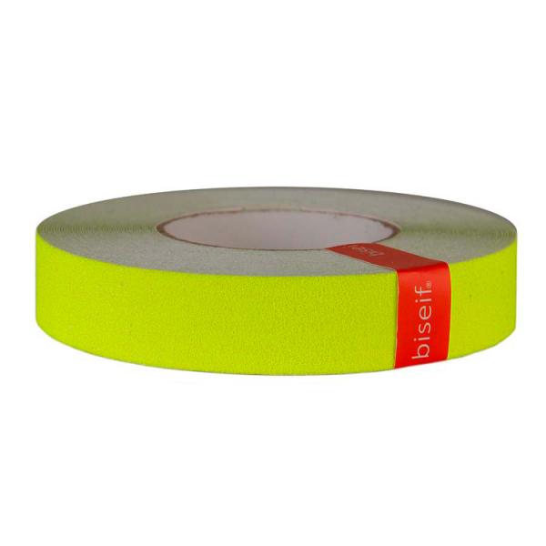 Cinta antideslizante amarillo fluor 25mm x 18,3m
