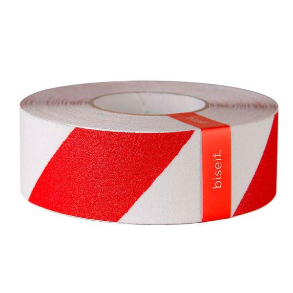 Cinta antideslizante blanca y roja 50mm x 18,3m