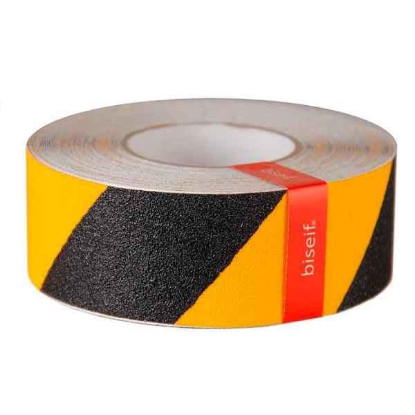 Cinta antideslizante amarilla y negra de 50mm x 18,3m